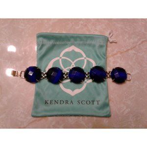 Kendra Scott Cobalt Blue Cassie Statement Bracelet